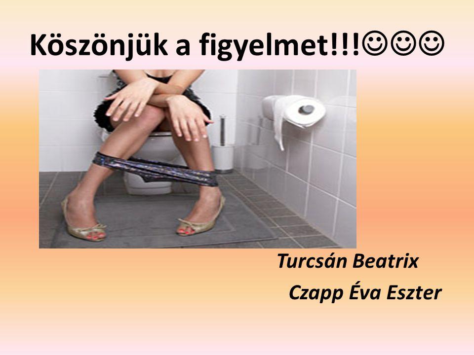 Köszönjük a figyelmet!!! Turcsán Beatrix Czapp Éva Eszter