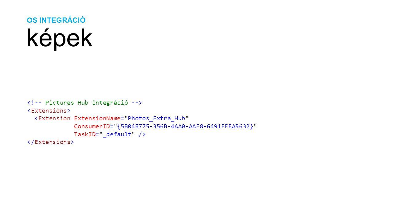 OS INTEGRÁCIÓ képek <Extension ExtensionName= Photos_Extra_Hub ConsumerID= {5B04B775-356B-4AA0-AAF8-6491FFEA5632} TaskID= _default />