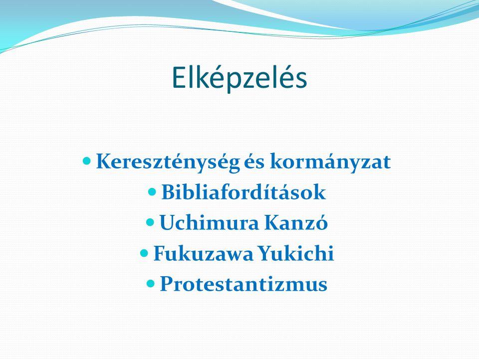 Elképzelés Kereszténység és kormányzat Bibliafordítások Uchimura Kanzó Fukuzawa Yukichi Protestantizmus