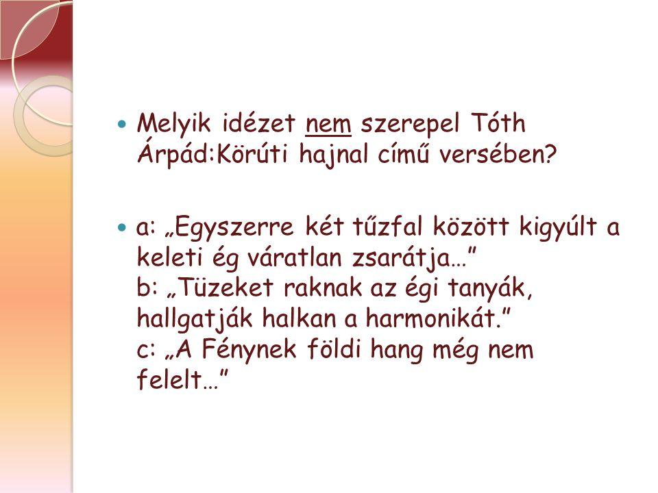 Melyik idézet nem szerepel Tóth Árpád:Körúti hajnal című versében.