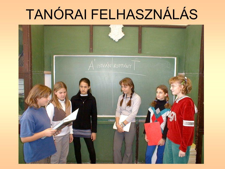 TANÓRAI FELHASZNÁLÁS
