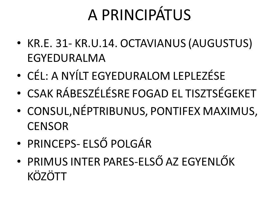 A PRINCIPÁTUS KR.E.31- KR.U.14.