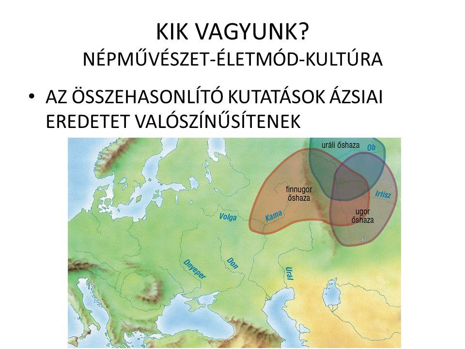 JELENLEGI ISMERETEINK A magyar több nép, akár több nyelven beszélő, hasonló kultúrájú népcsoport összeolvadásából jött létre Nyelvünk alapvetően finnugor eredetű Nyelvünk alapvetően finnugor eredetű:  Alapvető testrészek: fej, haj, kéz, láb stb.