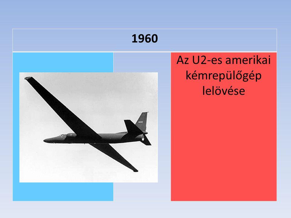 1960 Az U2-es amerikai kémrepülőgép lelövése