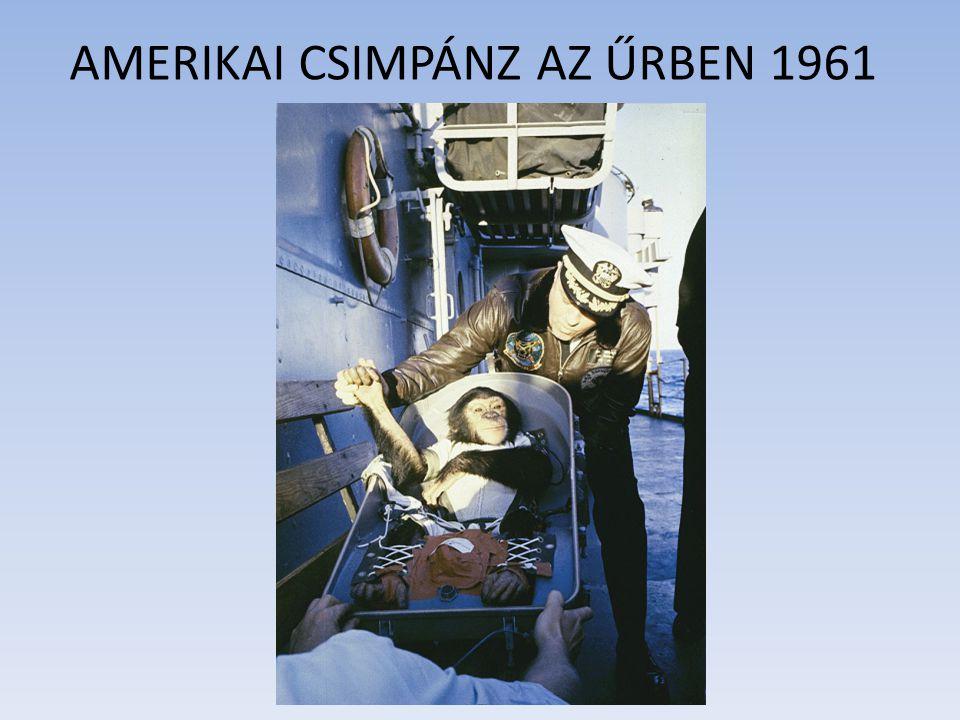AMERIKAI CSIMPÁNZ AZ ŰRBEN 1961