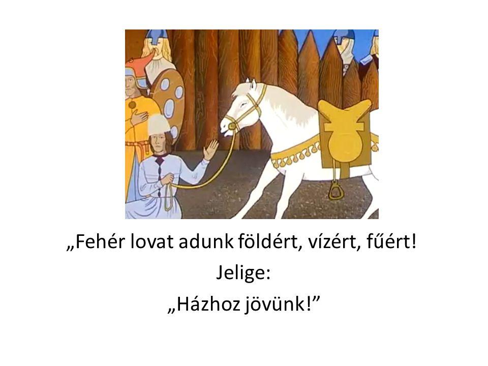 """""""Fehér lovat adunk földért, vízért, fűért! Jelige: """"Házhoz jövünk!"""""""