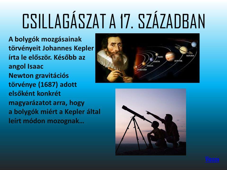 CSILLAGÁSZAT A 17.
