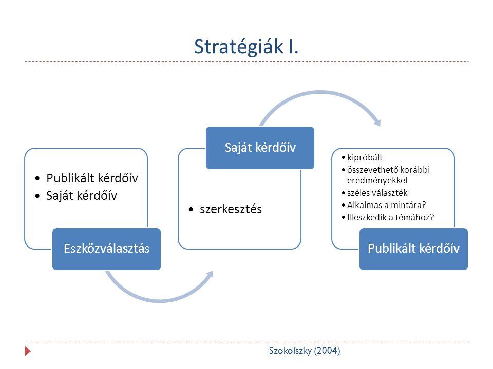 Stratégiák II.