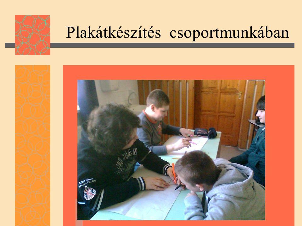 Plakátkészítés csoportmunkában