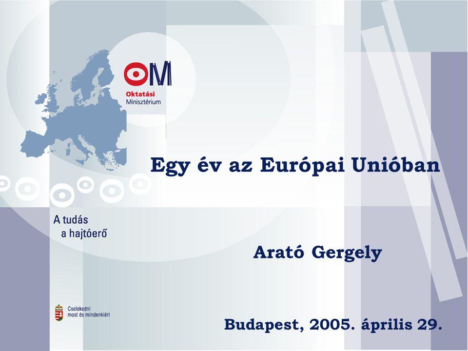 Egy év az Európai Unióban Arató Gergely Budapest, 2005. április 29.