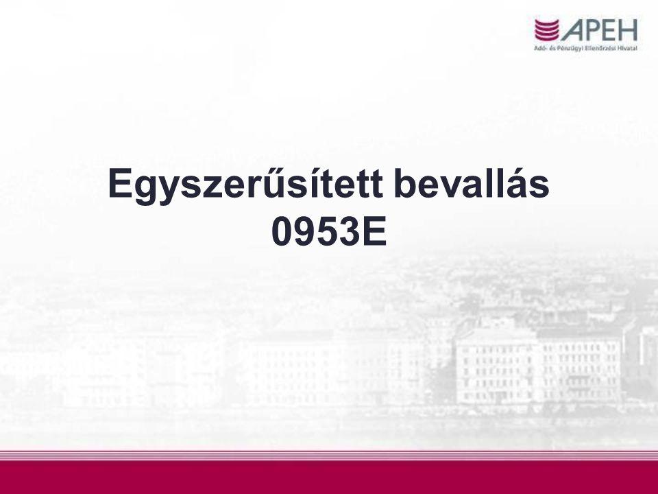 Egyszerűsített bevallás 0953E