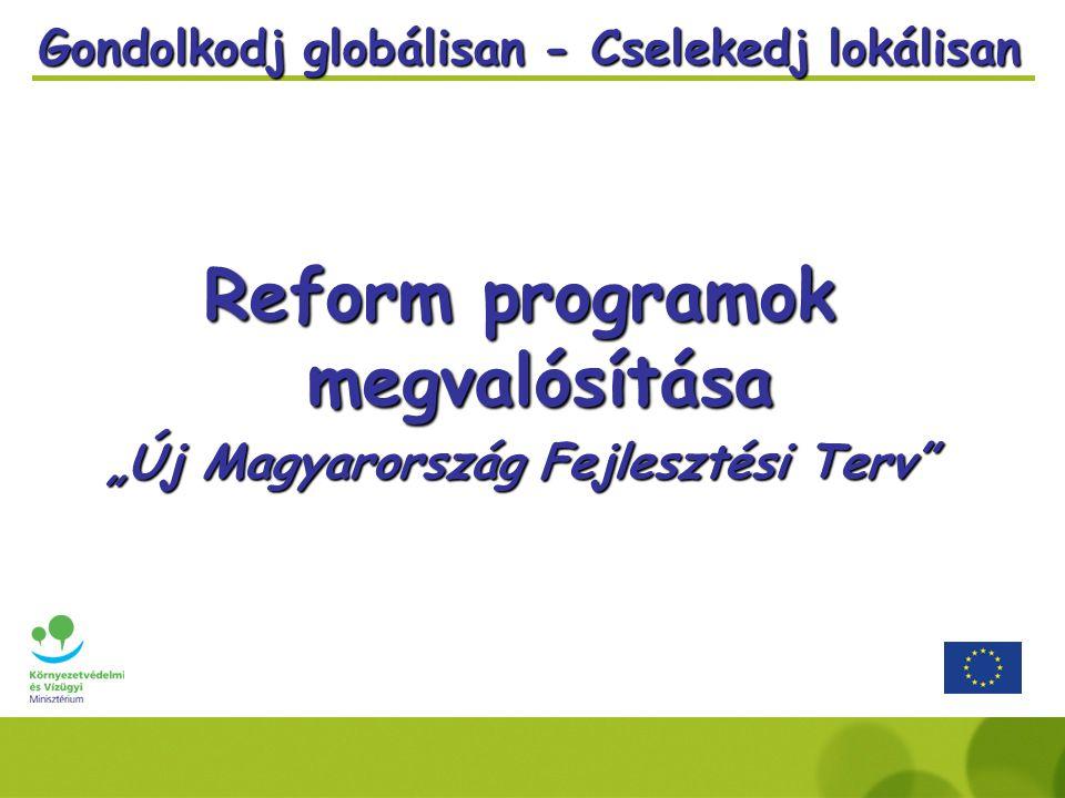 """Gondolkodj globálisan - Cselekedj lokálisan Reform programok megvalósítása """"Új Magyarország Fejlesztési Terv"""