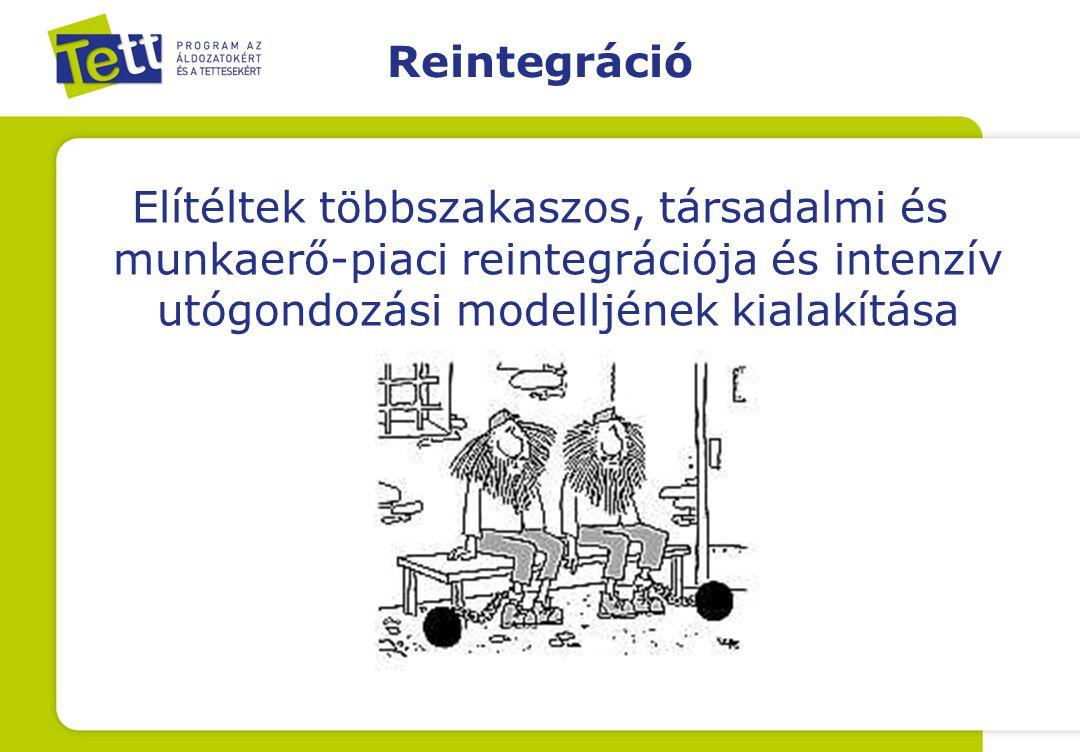 Reintegráció Elítéltek többszakaszos, társadalmi és munkaerő-piaci reintegrációja és intenzív utógondozási modelljének kialakítása