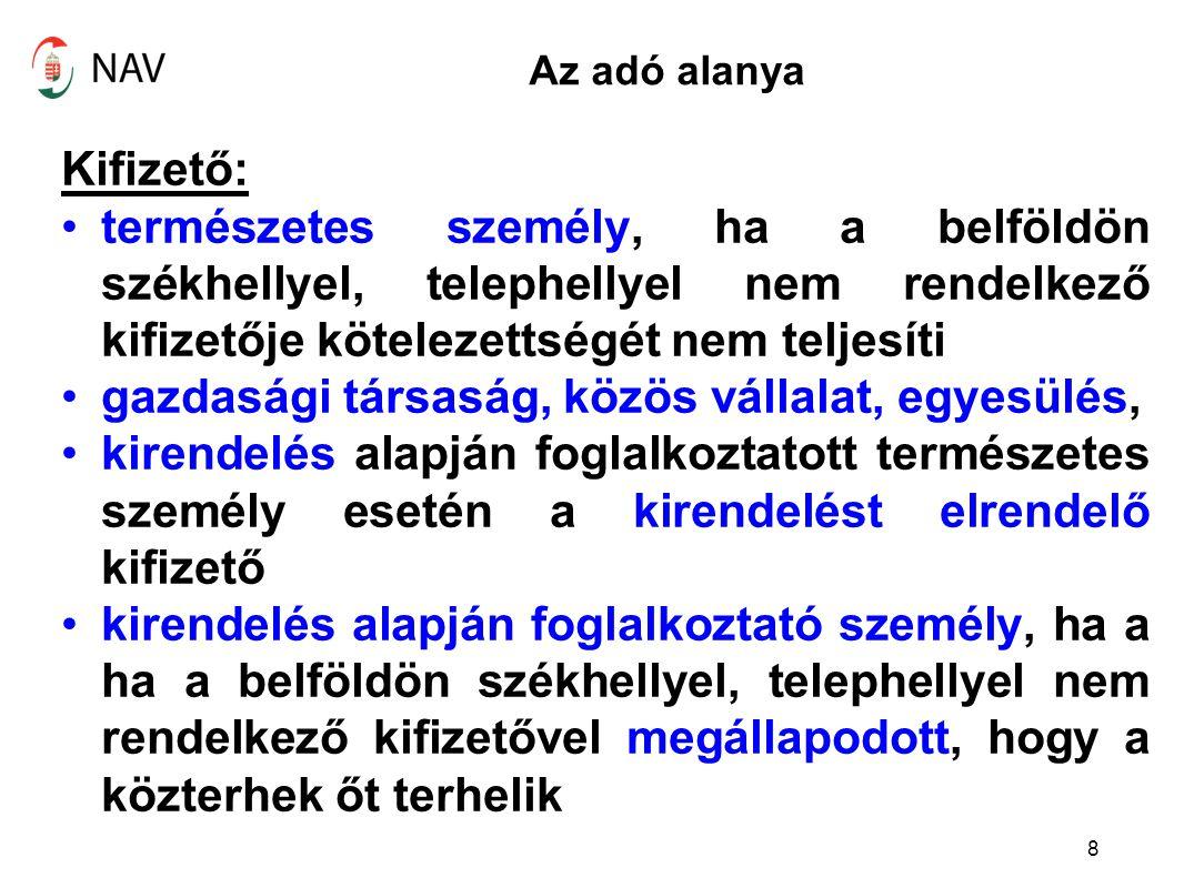 Nem eva alany egyéni vállalkozó A Szja tv.