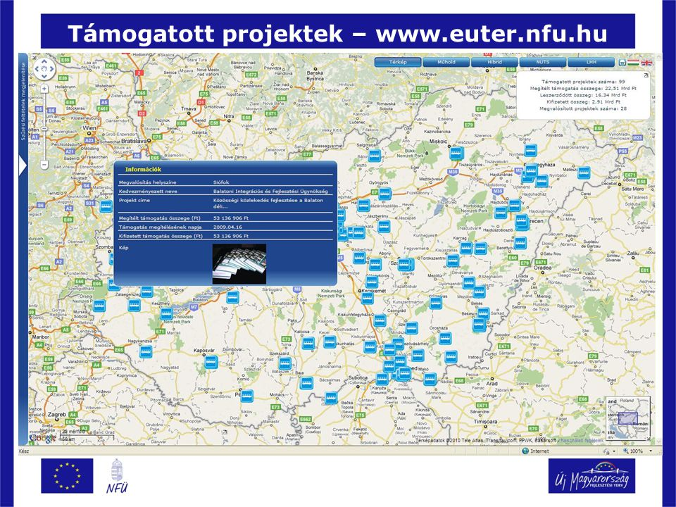 Támogatott projektek – www.euter.nfu.hu