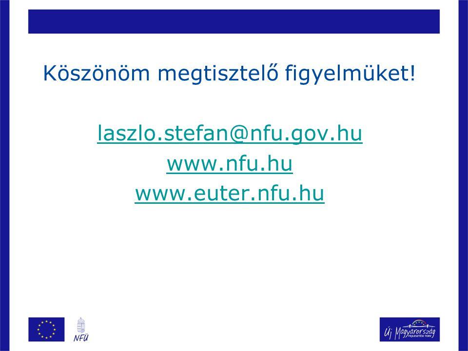 Köszönöm megtisztelő figyelmüket! laszlo.stefan@nfu.gov.hu www.nfu.hu www.euter.nfu.hu