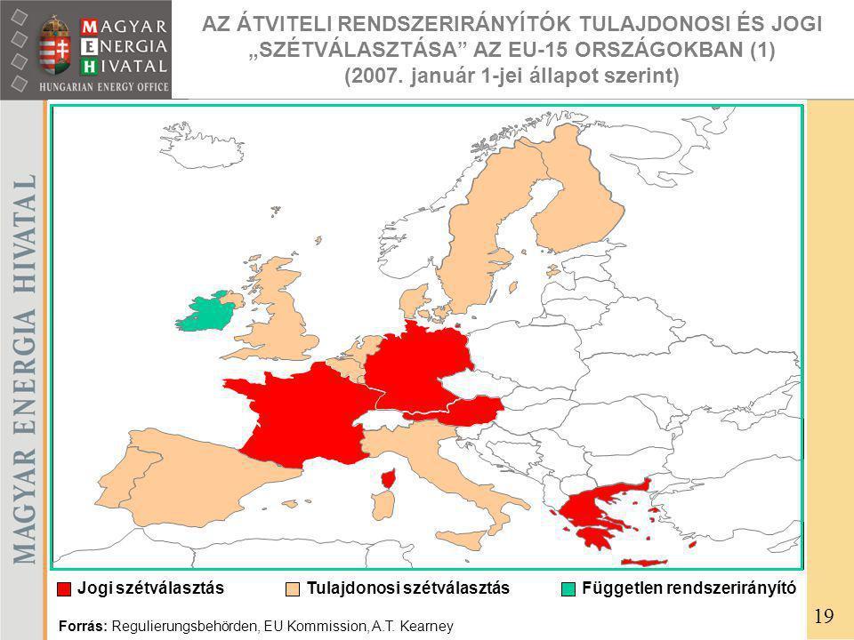 """AZ ÁTVITELI RENDSZERIRÁNYÍTÓK TULAJDONOSI ÉS JOGI """"SZÉTVÁLASZTÁSA AZ EU-15 ORSZÁGOKBAN (1) (2007."""