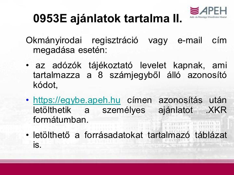 Okmányirodai regisztráció vagy e-mail cím megadása esetén: az adózók tájékoztató levelet kapnak, ami tartalmazza a 8 számjegyből álló azonosító kódot,
