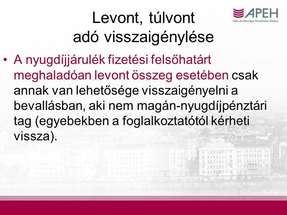 Adókulcsok, adójóváírás A 2009.