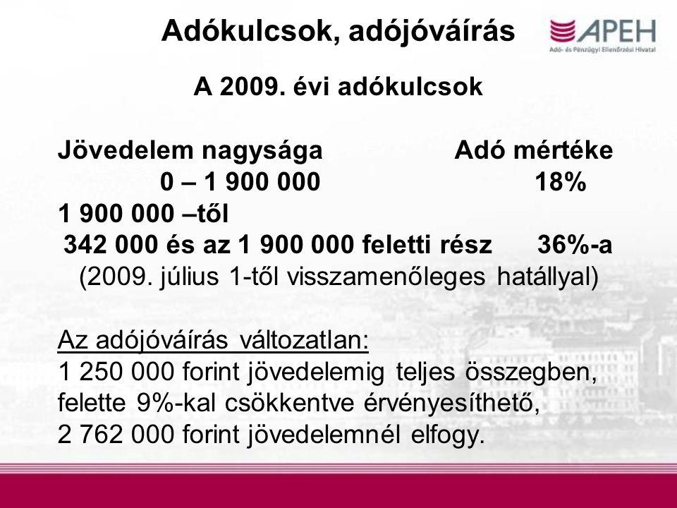 0953E ajánlatok összeállítása Az egyszerűsített adóbevallásra jogosultak közül 15.177 adózó részére az adóhatóság nem készített 0953E bevallás ajánlatot, mert: Jövedelem szerzés miatt nem felelt meg az egyszerűsített bevallás készítés feltételeinek (7354 fő), Az adózó nem szerzett bevallásköteles jövedelmet a jelenleg rendelkezésre álló információk szerint, vagy Az adózó munkáltatója nem szolgáltatott adatot az adózó jövedelméről (6872 fő), 0953-ast nyújtott be (951 fő).