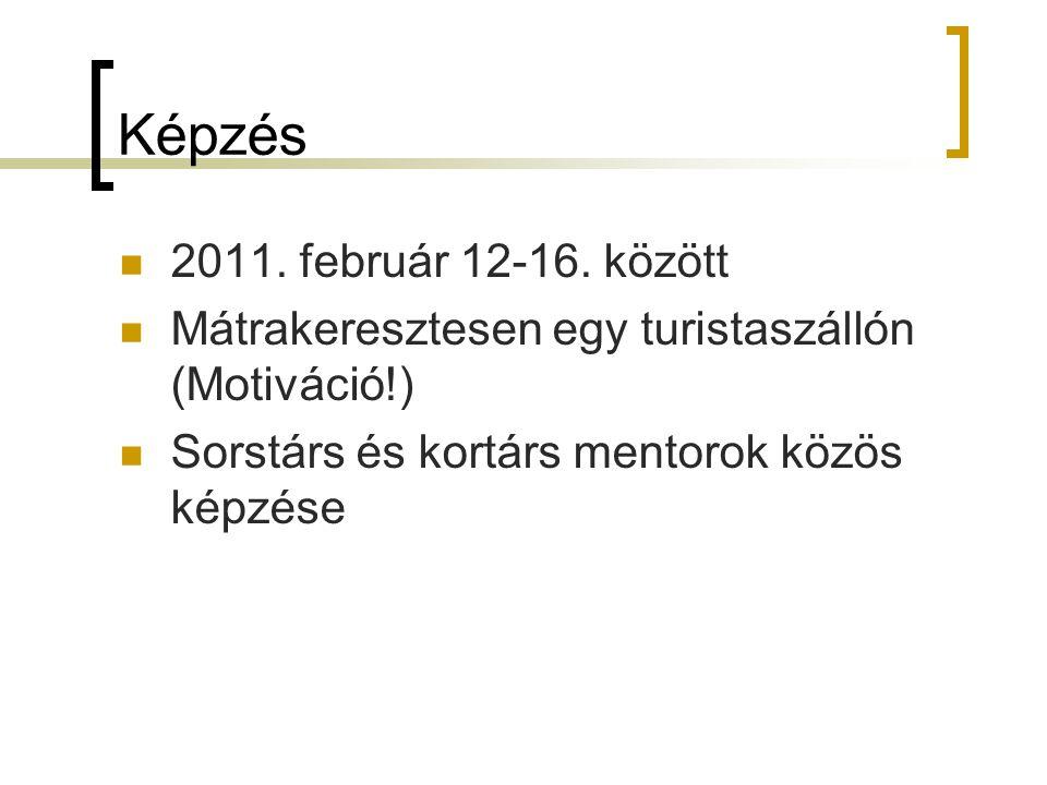 Képzés 2011. február 12-16. között Mátrakeresztesen egy turistaszállón (Motiváció!) Sorstárs és kortárs mentorok közös képzése