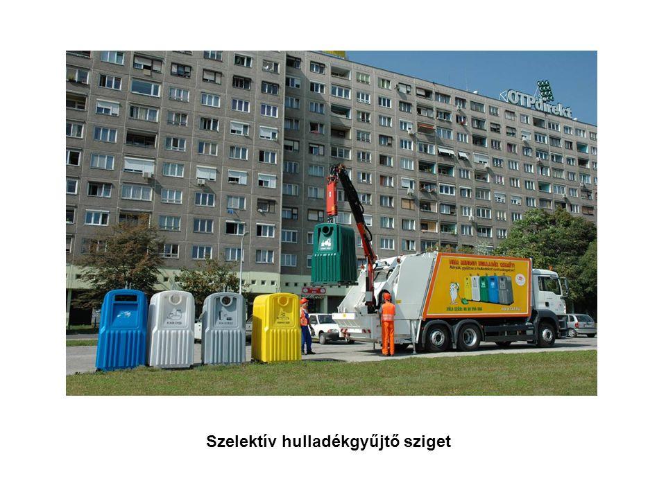 Szelektív hulladékgyűjtő sziget