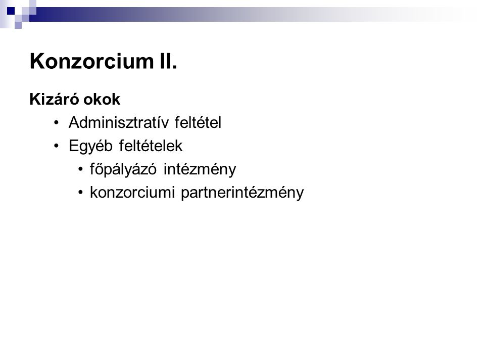 Konzorcium II.