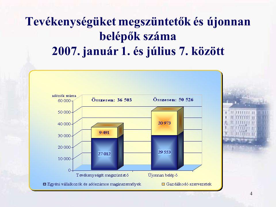 5 Felszámolási eljárások alakulása 2004-2006. év és 2006-2007. I. félév