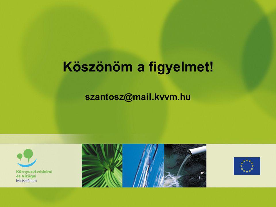 Köszönöm a figyelmet! szantosz@mail.kvvm.hu