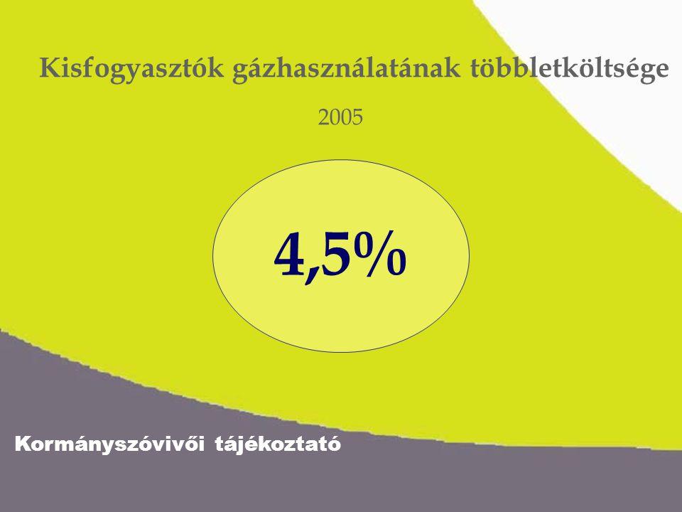 Kormányszóvivői tájékoztató Várható infláció 2005 4,5%