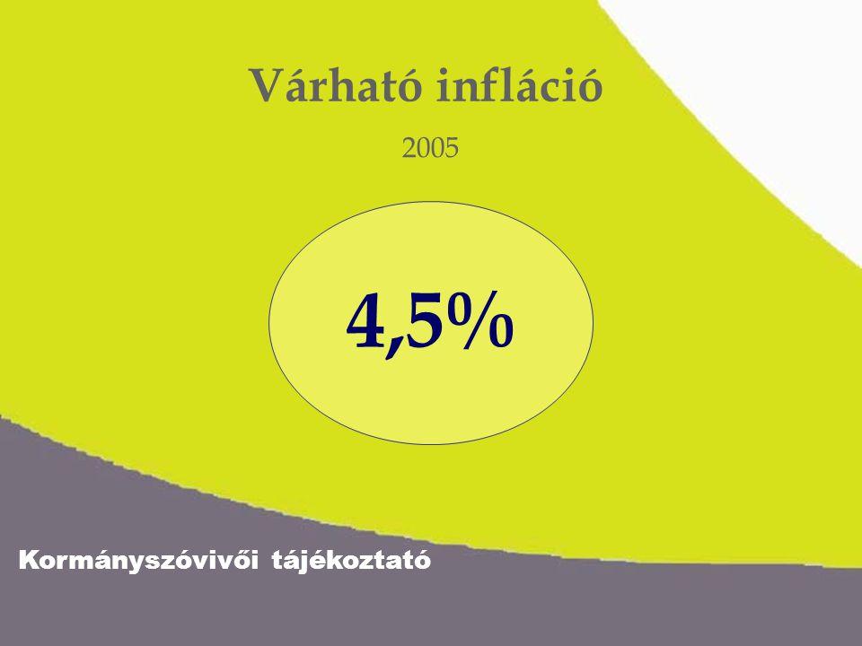 Kormányszóvivői tájékoztató 4,5% 8% Várható nettó keresetnövekedés Béremelkedés: 6% Jövedelem- növekedés adócsökkentés miatt: 2%