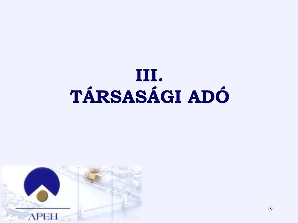 19 III. TÁRSASÁGI ADÓ