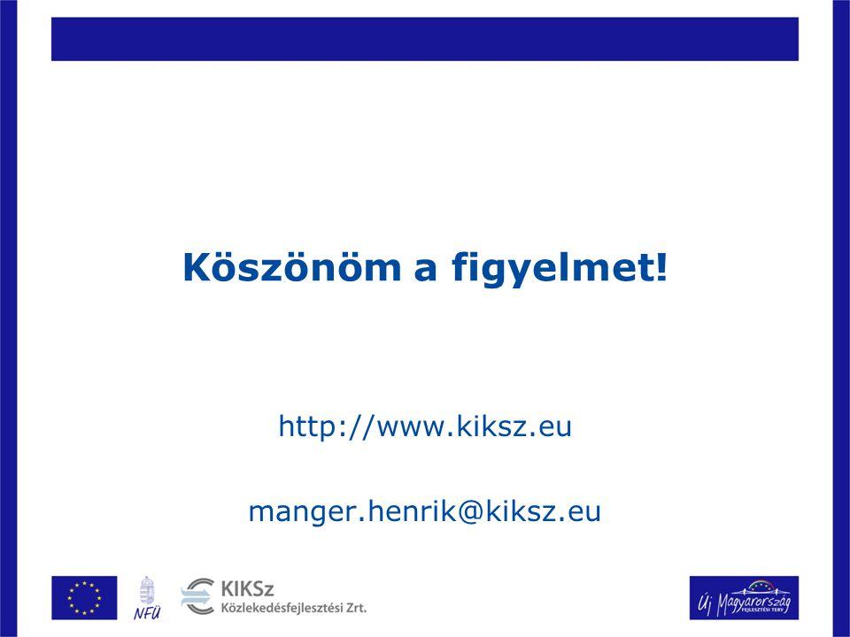 Köszönöm a figyelmet! http://www.kiksz.eu manger.henrik@kiksz.eu