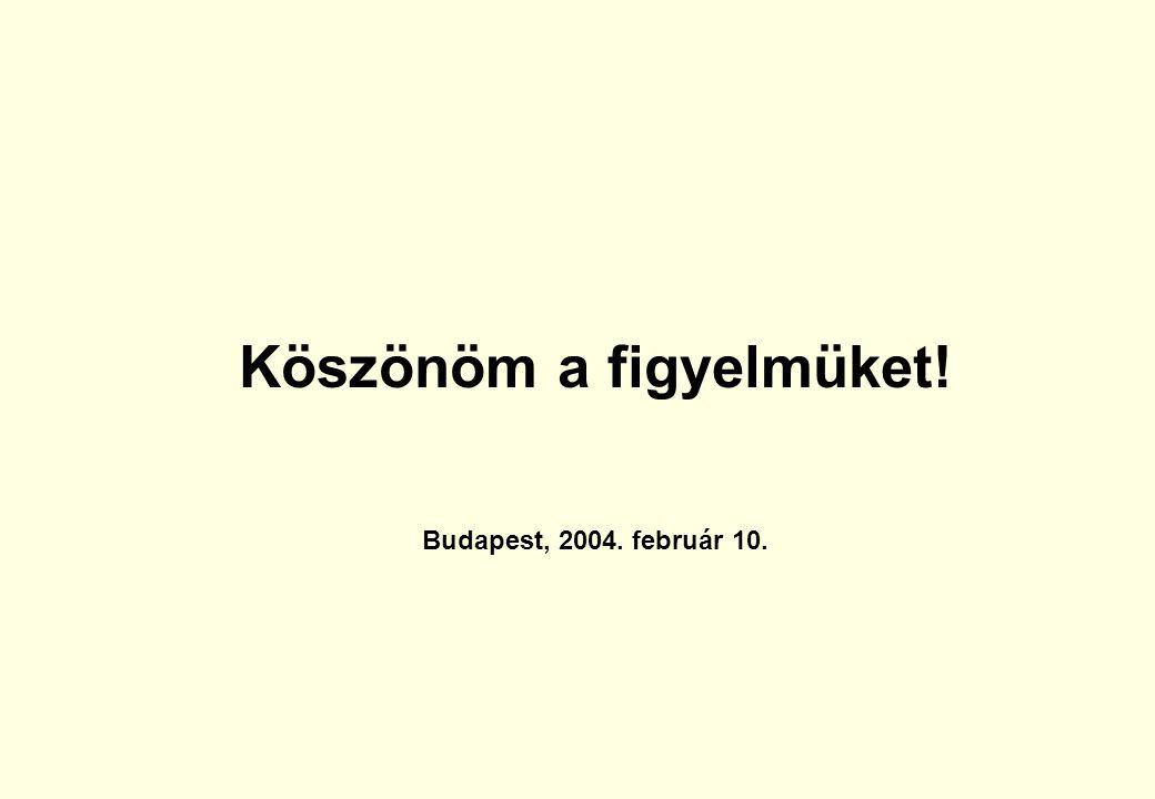 Köszönöm a figyelmüket! Budapest, 2004. február 10.