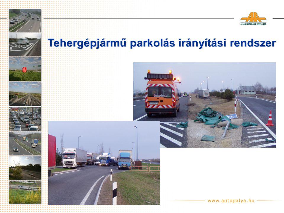 Tehergépjármű parkolás irányítási rendszer