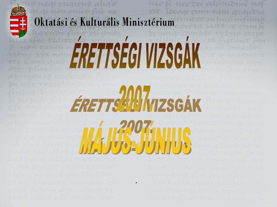 Az összes középszintű vizsgaeredmény megoszlása 2005-ben és 2006-ban (mentességek nélkül)