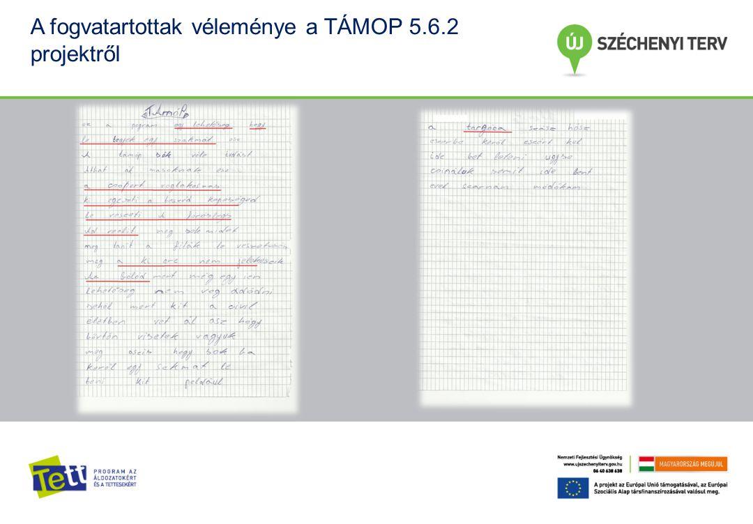 A fogvatartottak véleménye a TÁMOP 5.6.2 projektről