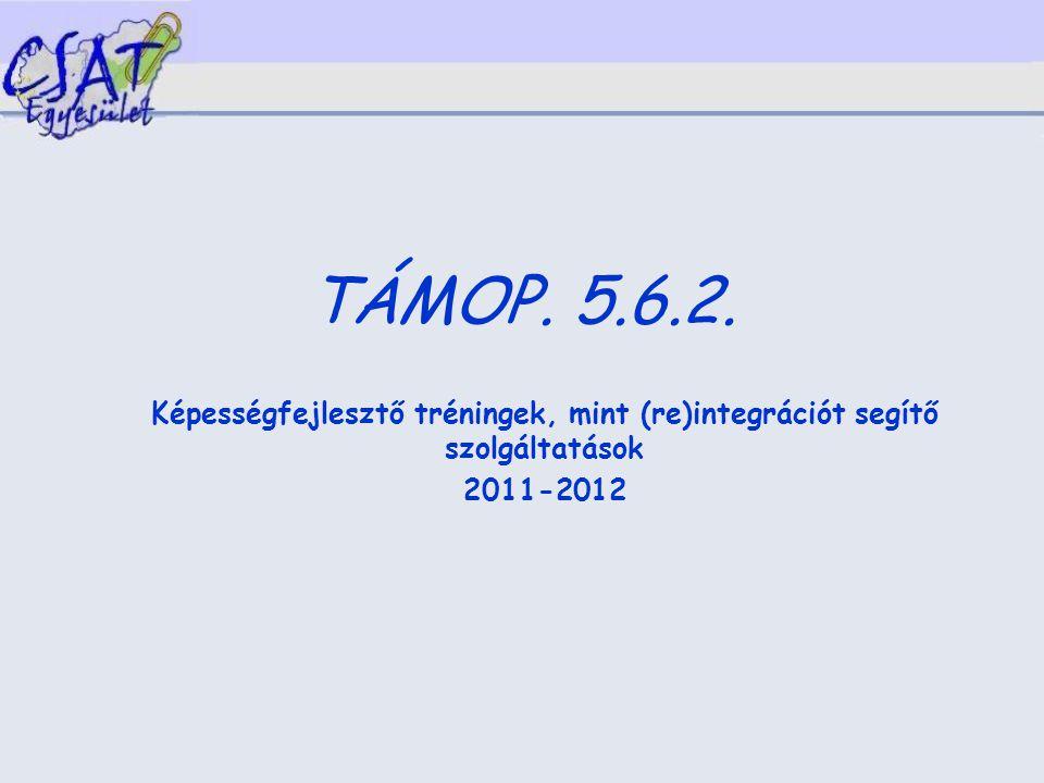 TÁMOP. 5.6.2. Képességfejlesztő tréningek, mint (re)integrációt segítő szolgáltatások 2011-2012
