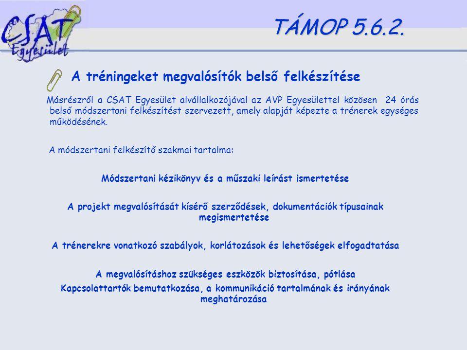 A készségfejlesztő tréningek szakmai tapasztalata a (re)integrációs törekvések tükrében /Csutak Zoltán/ TÁMOP 5.6.2.
