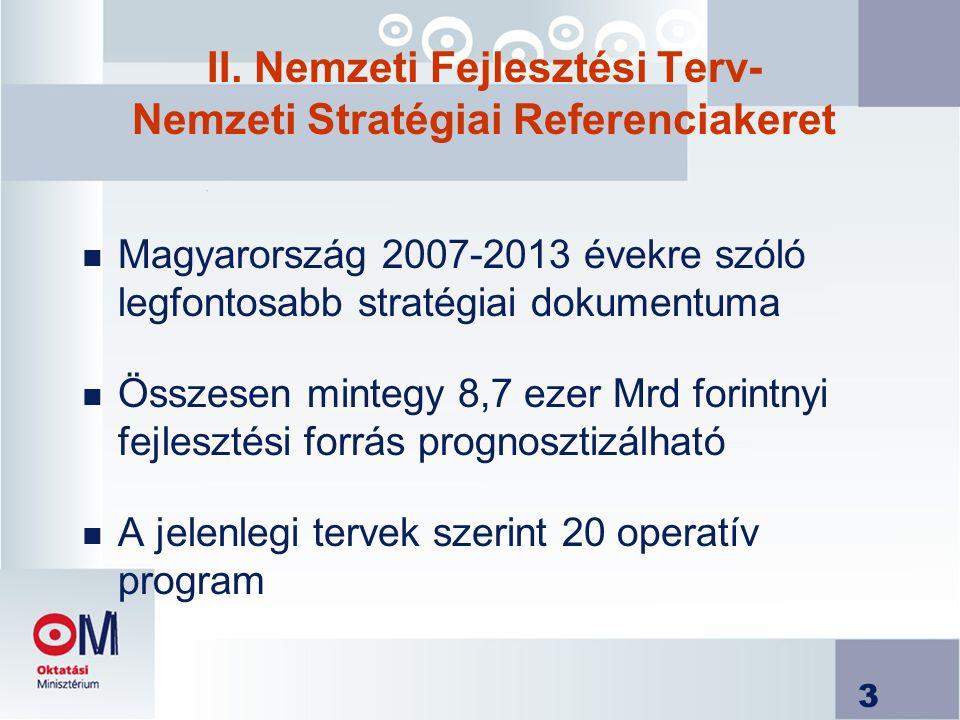 4 Külső stratégiai tervezési környezet n Megújult lisszaboni stratégia (integrált irányvonalak, Nemzeti akcióprogram 2005-2008) n Kohéziós politika n Közösségi Stratégiai Irányvonalak n Pénzügyi perspektíva 2007-13 n Strukturális Alapok rendeletei (ESZA, ERFA)