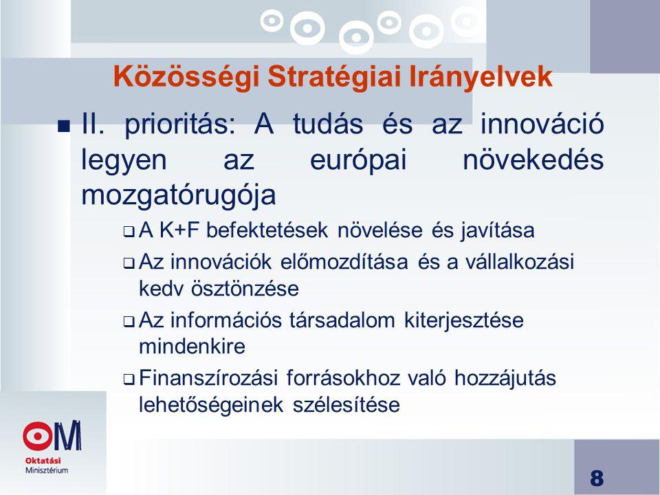 8 Közösségi Stratégiai Irányelvek n II.