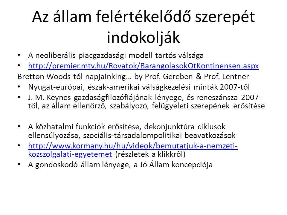 Az államháztartás mozgásterének újraszabása Magyarországon – Alaptörvény centrikusan Költségvetés - átlátható módon, ésszerű részletezettséggel (Alaptörvény, 36.