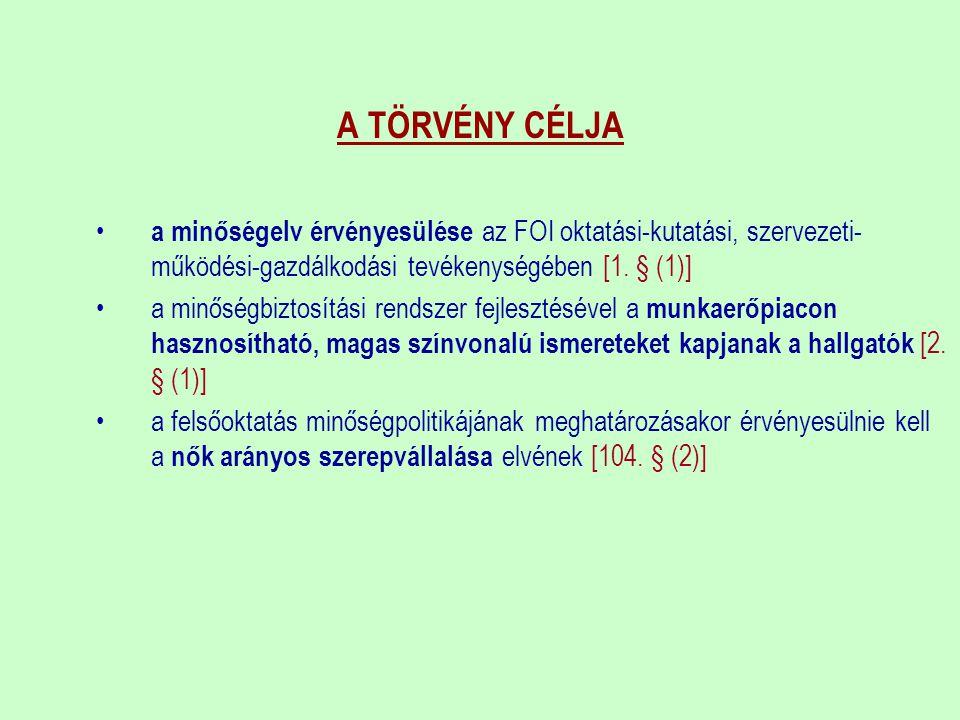 FELSŐOKTATÁSI MINŐSÉGI DÍJ (FMD)  2007-BEN HIRDETTE MEG ELŐSZÖR AZ OKM  MINŐSÉGFEJLESZTÉSBEN KIEMELKEDŐ EREDMÉNYT NYÚJTÓ FELSŐOKTATÁSI INTÉZMÉNYEK (FOI) ÉS SZERVEZETI EGYSÉGEK (SZE) SZÁMÁRA; CÉLJA: ÖSZTÖNZÉS ÉS ELISMERÉS  ÖNÉRTÉKELÉSEN NYUGSZIK  EURÓPAI MINŐSÉGI DÍJ KÖVETELMÉNYRENDSZERE(EFQM) AZ ALAP: VEZETÉS, STRATÉGIA, EMBERI ERŐFORRÁSOK, PARTNERKAPCSOLATOK, FOLYAMATOK, PARTNEREK ELÉGEDETTSÉGE, MUNKATÁRSAK ELÉGEDETTSÉGE, TÁRSADALMI HATÁS, KULCSFONTOSSÁGÚ EREDMÉNYEK  FELSŐOKTATÁSI MINŐSÉGI DÍJ ÉS MINŐSÉGFEJLESZTÉSI BIZOTTSÁG + SZAKÉRTŐK  DÍJ: OKLEVÉL + PLAKETT + HERENDI PLASZTIKA (KÉZ)  JOGSZABÁLYI HÁTTÉR: = A FELSŐOKTATÁSRÓL SZÓLÓ 2005.