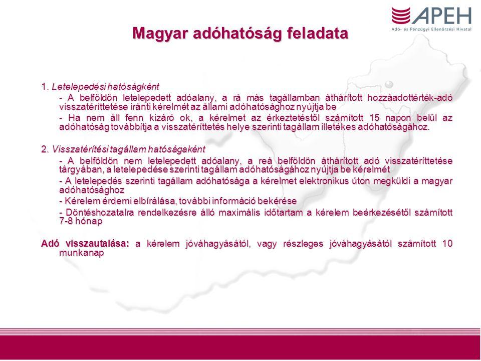 7 Magyar adóhatóság feladata 1.