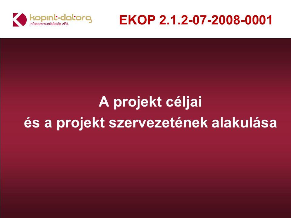A projekt céljai és a projekt szervezetének alakulása