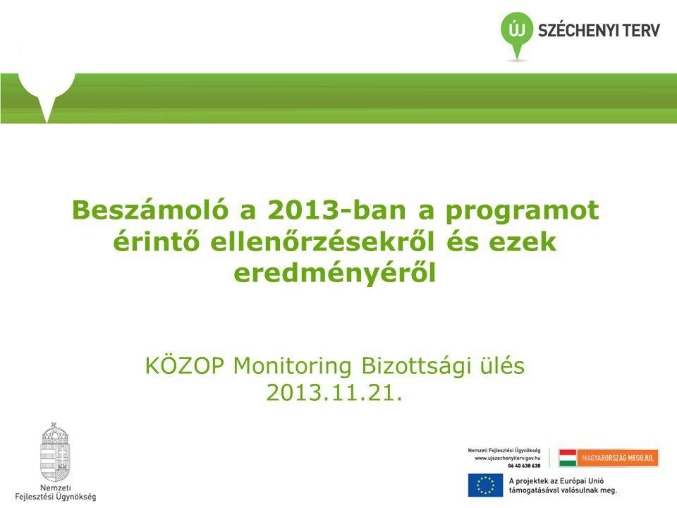 """KÖZOP IH – """"C szintű ellenőrzés 1/2013."""