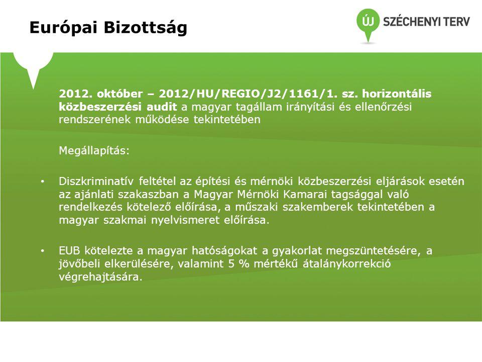 Európai Bizottság Korrekció vetítési alapja: Minden 2013.