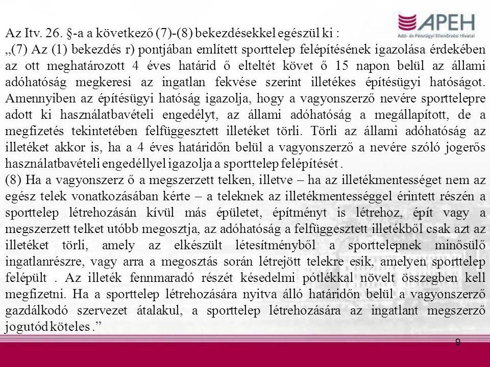 9 Az Itv. 26.