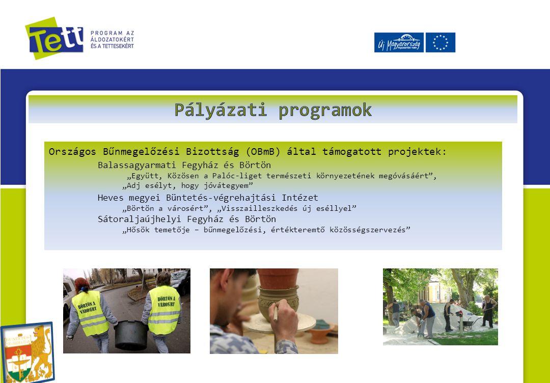 """Országos Bűnmegelőzési Bizottság (OBmB) által támogatott projektek: Balassagyarmati Fegyház és Börtön """"Együtt, Közösen a Palóc-liget természeti környe"""