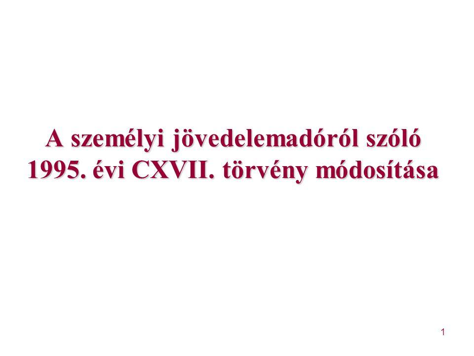 """82 Változások (2) Szja tv-ben """"megszűnik a tevékenységre jellemző kereset fogalma – megszűnik a 4."""